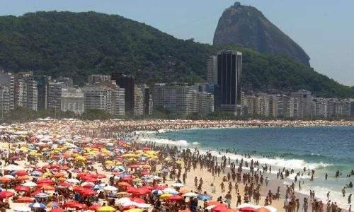 praia de copacabana lotada