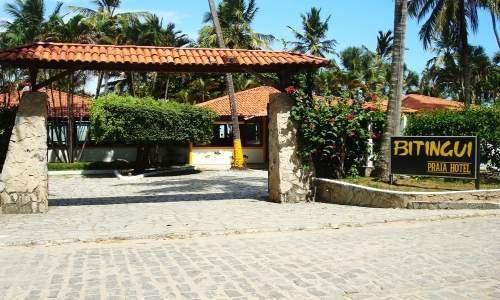 Bitingui Praia Hotel em Japaratinga, Alagoas - entrada