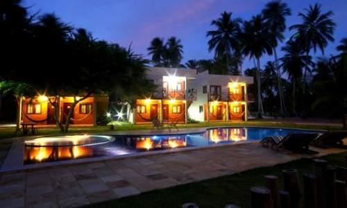 Pousada Humaitá em Japaratinga, Alagoas - iluminacao noturna