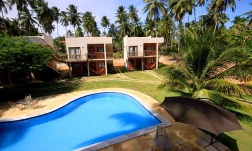 Pousada Humaitá em Japaratinga, Alagoas - vista da piscina