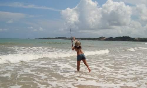 Pesca de Praia  - pesca de praia arremesso